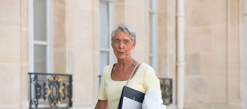 La ministre du Travail Elisabeth Borne, à l'Elysée le 19 juillet 2021.
