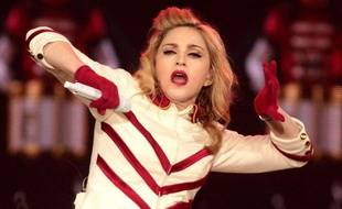 Madonna, lors d'un concert à Washington, le 23 septembre 2012.