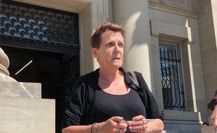 Marlène Lutz, la « gilet jaune » qui avait reçu le coup de matraque de la part du policier, le 12 janvier.