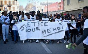Lors de la marche blanche pour Mehdi à Marseille, samedi.
