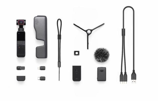 Le pack Creator Combo avec la caméra Pocket II et différents accessoires.