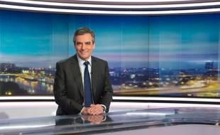 François Fillon sur TF1, le 3/01/2017. Credit:Witt/SIPA.
