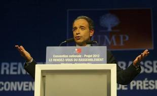 Jean-François Copé à Lyon, le 29 novembre 2011, lors de la Convention de l'UMP sur la sécurité.