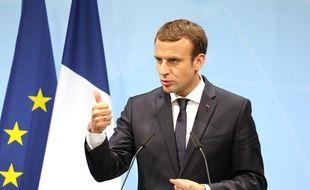 Emmanuel Macron le 8 juillet 2017 au G20 de Hambourg.