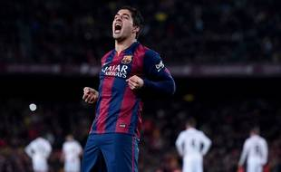 L'attaquant du FC Barcelone Luis Suarez, le 22 mars 2015 contre le Real Madrid.