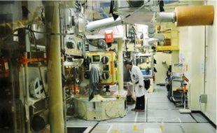 Une mesure du niveau de radioactivité dans l'Atelier de plutonium (ATPU) à Cadarache, le 15 octobre dernier.