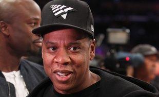 Le rappeur JAY-Z à un match des L.A Lakers, en avril 2016.