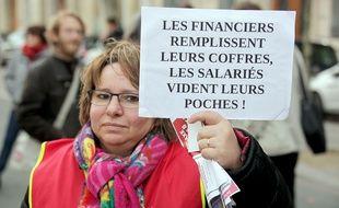 Lors de la manifestation de fonctionnaires du 26 janvier 2016, à Paris.