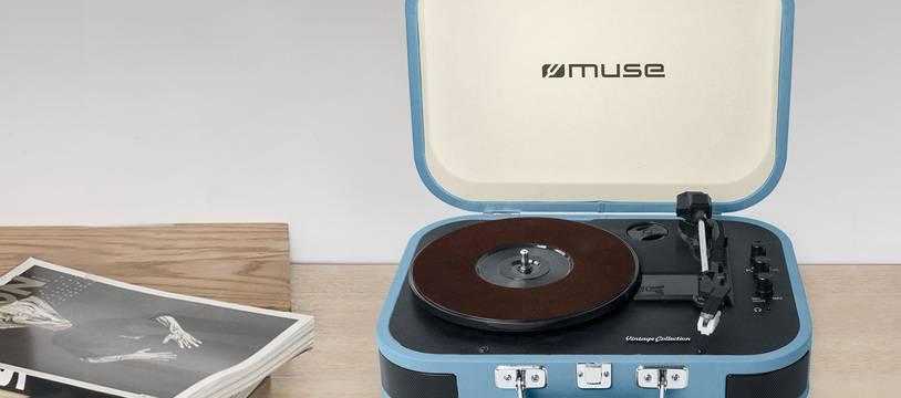 45 tours, 33 trs et 78 trs, le lecteur MT-201 de Muse les fait tous tourner.