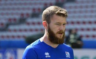 Aron Gunnarsson, le capitaine de l'équipe d'Islande lors de l'Euro 2016.