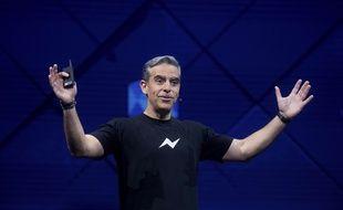 Le vice-président de Facebook en charge de Messenger, David Marcus, à la conférence F8, l,e 18 avril 2017.