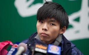Joshua Wong, l'un des leaders étudiants du mouvement prodémocratie de Hong Kong, le 4 décembre 2014