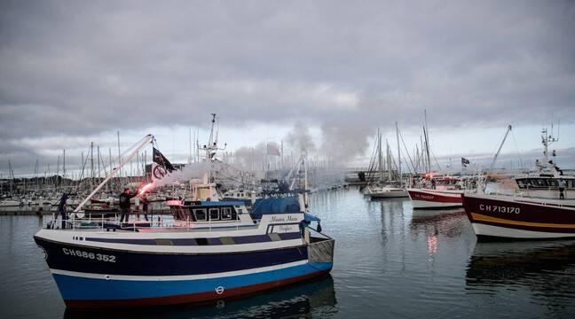 Energies renouvelables : Des pêcheurs manifestent contre l'éolien en mer au Havre et à Cherbourg