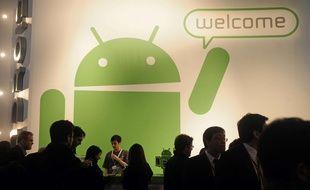 Un stand Google Androïd dans un salon en Espagne en 2011.