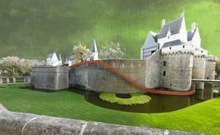 Un toboggan sera installé sur le château des ducs, à Nantes