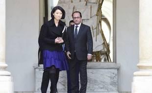 Fleur Pellerin et François Hollande, le 27 janvier 2016.