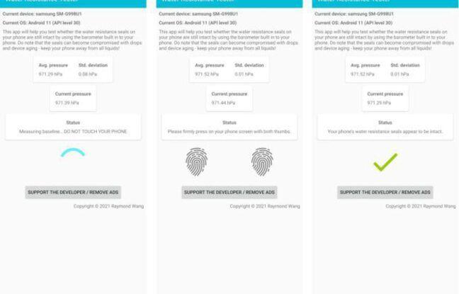 Une app qui permet de mesurer le niveau d'étanchéité de son smartphone