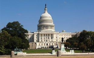 Illustration du Capitole, qui abrite le Congrès américain, à Washington DC.