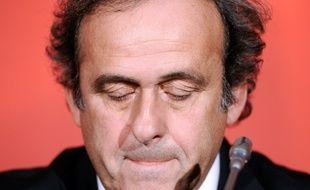 Michel Platini en 2013 au siège de la FFF.