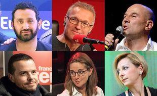 Cyril Hanouna, Laurent Ruquier, Vincent Moscato, Charline Vanhoenacker  et Natalie Dessay.