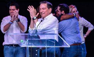 Laurentino Cortizo célèbre sa victoire, le 6 mai 2019.