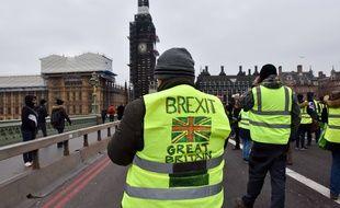 Manifestation de «yellow vests» à Londres.