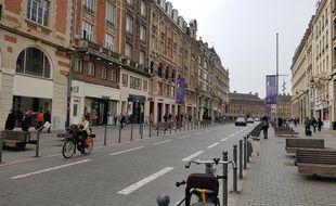 La rue Faidherbe, dans le centre-ville de Lille.