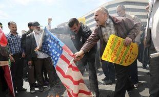 Une foule iranienne en colère, le 10 mai 2019