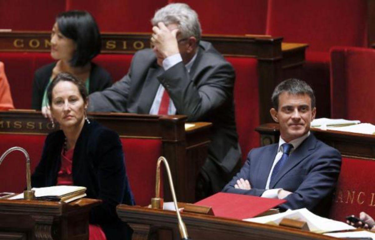 Ségolène Royal et Manuel Valls le 16 septembre 2014 à l'Assemblée nationale à Paris – Patrick Kovarik AFP