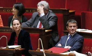 Ségolène Royal et Manuel Valls le 16 septembre 2014 à l'Assemblée nationale à Paris
