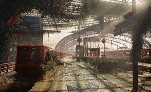 La gare centrale de Berlin imaginée après l'Apocalypse.