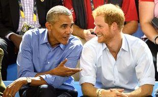 Barack Obama and Prince Harry Invictus Games, Toronto, Canada - 29 Sep 2017