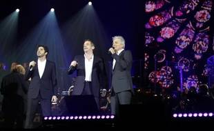"""Patrick Fiori, Garou et Daniel Lavoie, les trois comédiens-chanteurs de """"Notre Dame de Paris""""."""