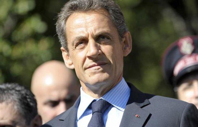 Nicolas Sarkozy en visite dans le Gard le mardi 4 octobre 2011.