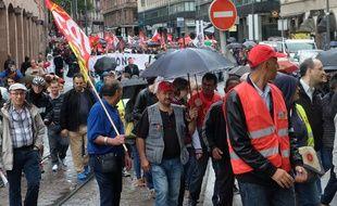 Strasbourg le 12 septembre 2017. Manifestation contre la réforme de la loi travail à l'appel de la CGT.