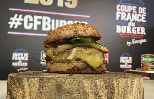 Le burger d'Anthony Verset, vainqueur de la coupe de France 2019
