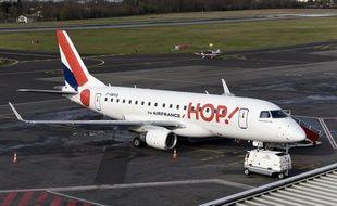 Un avion sur le tarmac de l'aéroport Nantes-Atlantique (illustration).