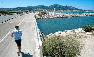 51 % des rivières de la zone Rhône-Méditerranée et Corse sont en bon état. Ci-dessus : l'Huveaune, à Marseille.
