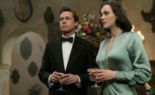 Brad Pitt et Marion Cotillard attendent avec inquiétude de savoir s'ils seront nommés aux Razzie Awards 2017 (non, en fait, l'image est extraite du film «Alliés»).