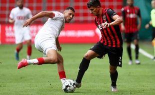 Youcef Atal en août 2020 sous les couleurs de l'OGC Nice