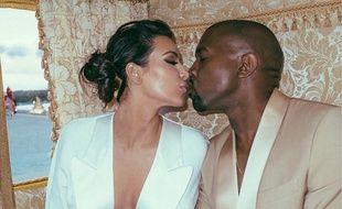 Kim Kardashian et Kanye West en mau 2014.