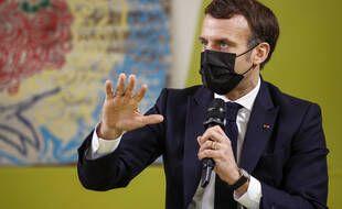 Emmanuel Macron à l'université Paris Saclay en janvier 2021 (illustration).