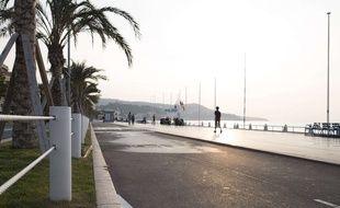 Vue de la Promenade des Anglais à Nice le 1er  octobre 2017.