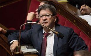 Le député Jean-Luc Mélenchon à l'Assemblée nationale le 31 octobre 2017.