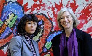 Emmanuelle Charpentier et Jennifer Doudna, ici en Espagne. (archives)