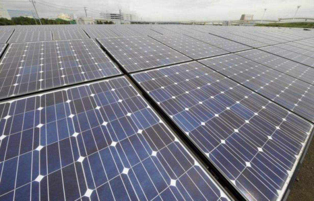 Le groupe nippon Toshiba s'apprête à construire un parc solaire réparti en plusieurs lieux de la ville de Minamisoma, dans la région du Japon dévastée par le tsunami le 11 mars 2011 et désormais désireuse de remplacer l'énergie nucléaire par des sources jugées moins dangereuses. – Toshifumi Kitamura afp.com