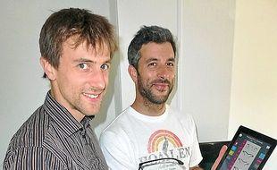 Julien Cotteaux et Morgan Bigot.