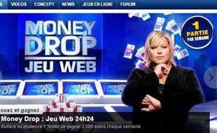 Capture d'écran du site du jeu «Money Drop» avec Laurence Boccolini