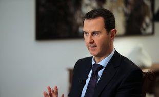 Le président syrien Bachar al-Assad lors d'une interview avec l'Agence France Presse à Damas, le 11 février 2016.