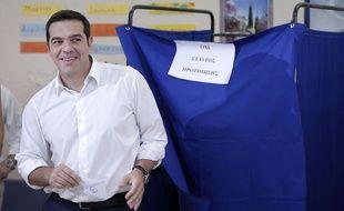 Alexis Tsipras à Athènes le 20 septembre 2015.